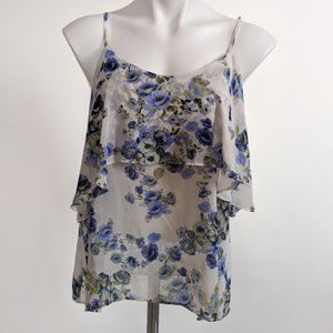 Forever 21 Floral Tank Top Blouse